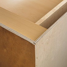 Inside Corner Of Cabinet With All Plywood Construction