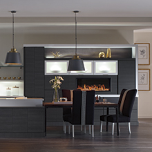 Tranter kitchen cabinets in a deep Obsidian color