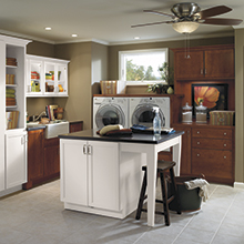Shiloh laundry room cabinets