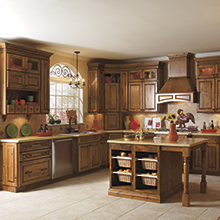 Carson kitchen cabinets with a homemade charm