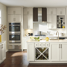 Caldera off white kitchen cabinets in Maple Dover