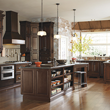 Bailey kitchen with an island that offers increased storage and organization