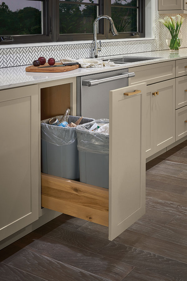 Double Trash Can Pull Out Diamond Cabinetry