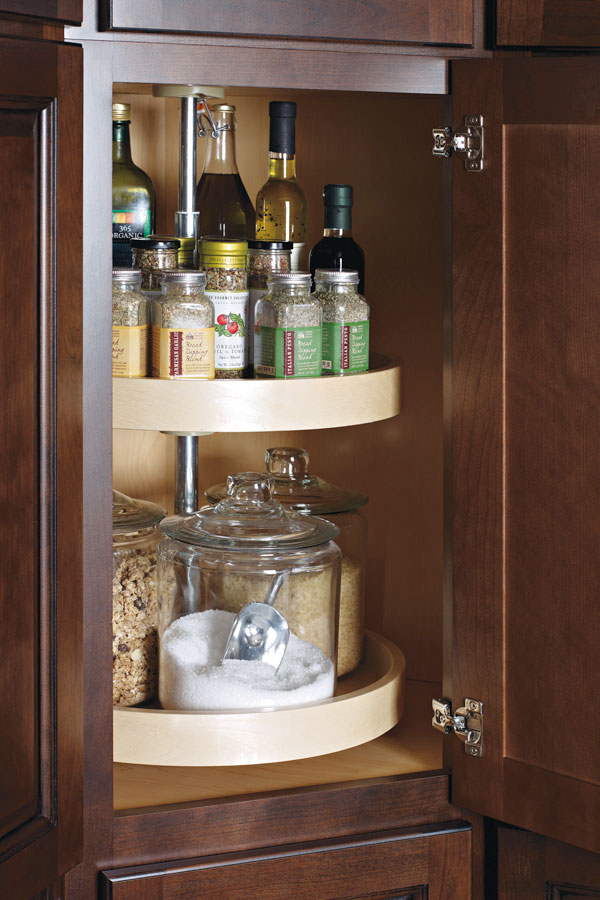 Diagonal Wall Cabinet With Lazy Susan Diamond Cabinetry