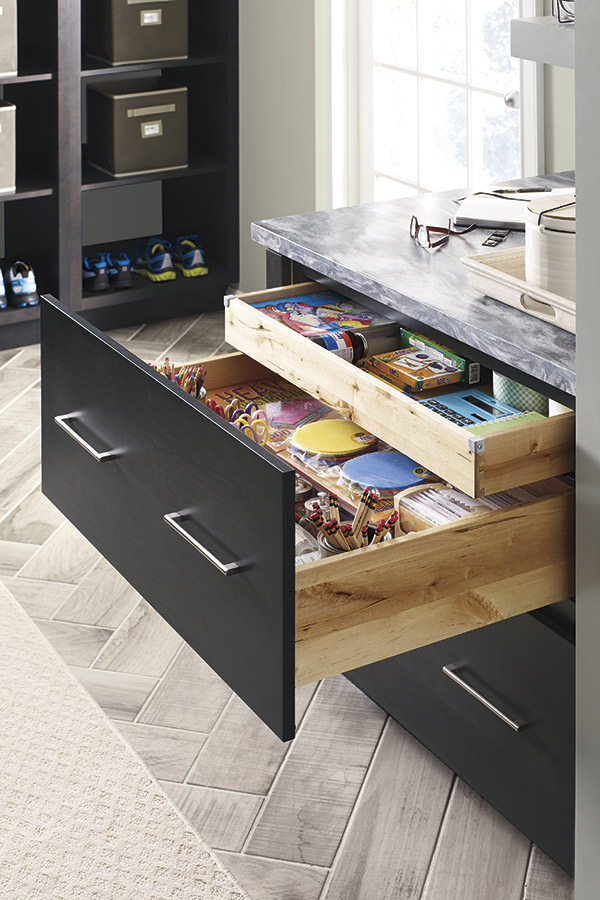 Two Drawer Base Cabinet with Roll Tray - Diamond