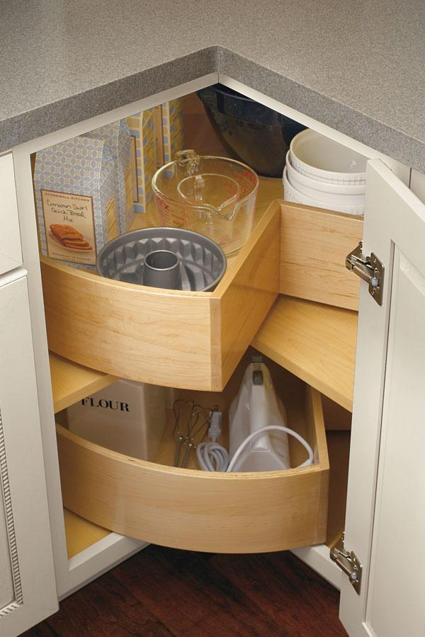 Segmented Super Lazy Susan Cabinet Diamond Cabinetry