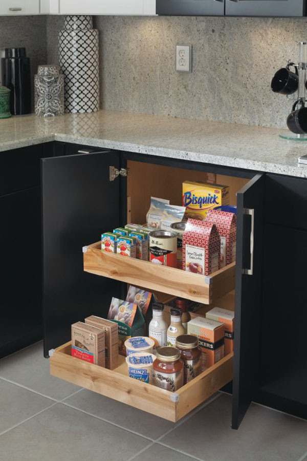 Kitchen organization products diamond cabinets base cabinet with roll trays workwithnaturefo