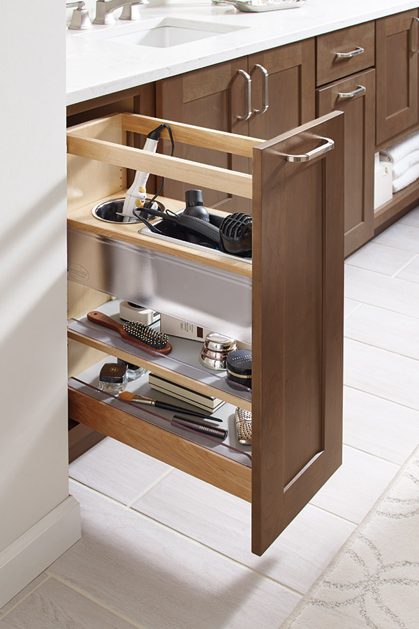 Vanity Grooming Pullout Cabinet Diamond Cabinetry