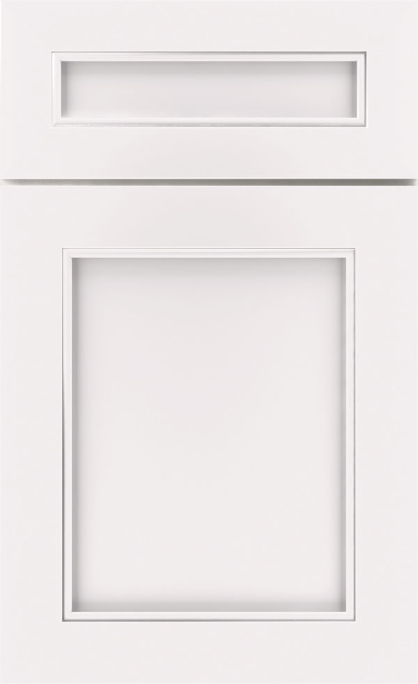 White Opaque Cabinet Finish On Maple Diamond Cabinetry