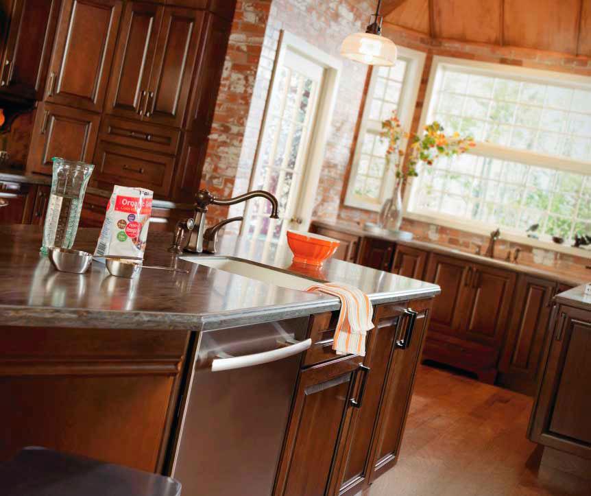 ... Dark Cherry Kitchen Cabinets By Diamond Cabinetry ...