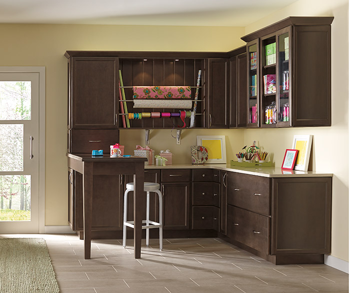 Craft room design by Diamond Cabinetry