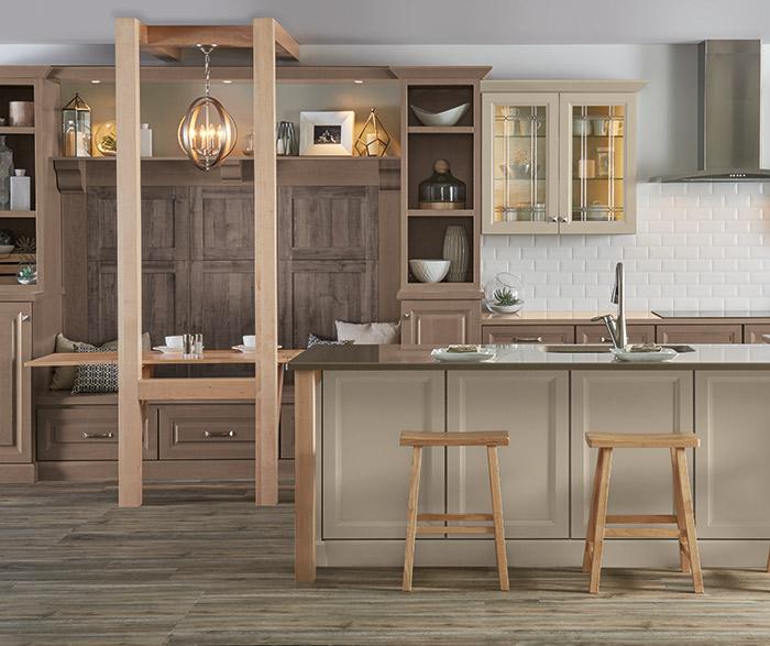Bon DavisCSeaWellsMEgrWortheLElkK · Transitional Kitchen With Beige Cabinets ...