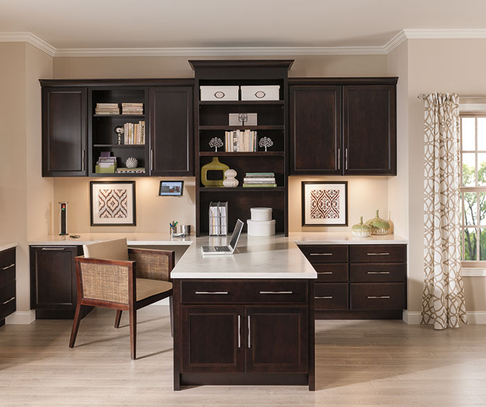 Superior Hanlon Office Cabinets In Dark Cherry Finish