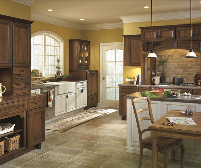 off white cabinets rustic hickory kitchen primitive