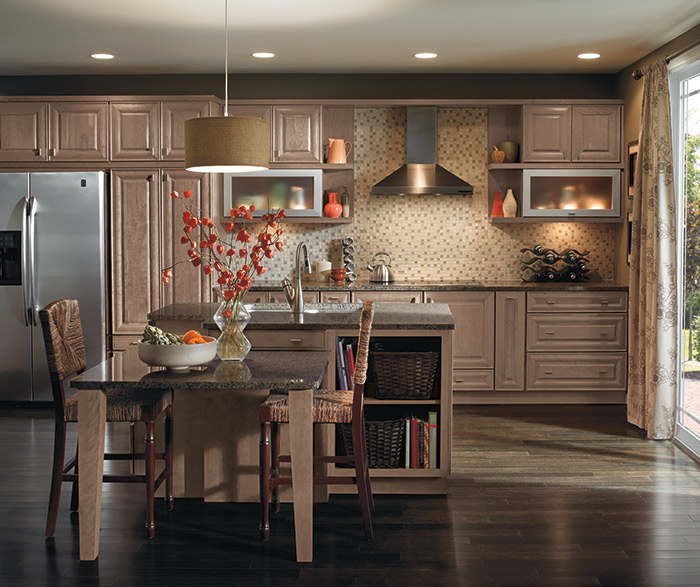 Lauredale Cherry cabinets in a casual kitchen