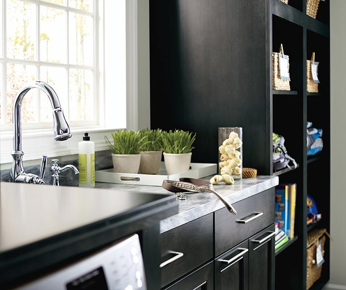 Leeton Dark Grey Laundry Cabinets; Close Up Of Leeton Dark Grey Laundry  Cabinets ...