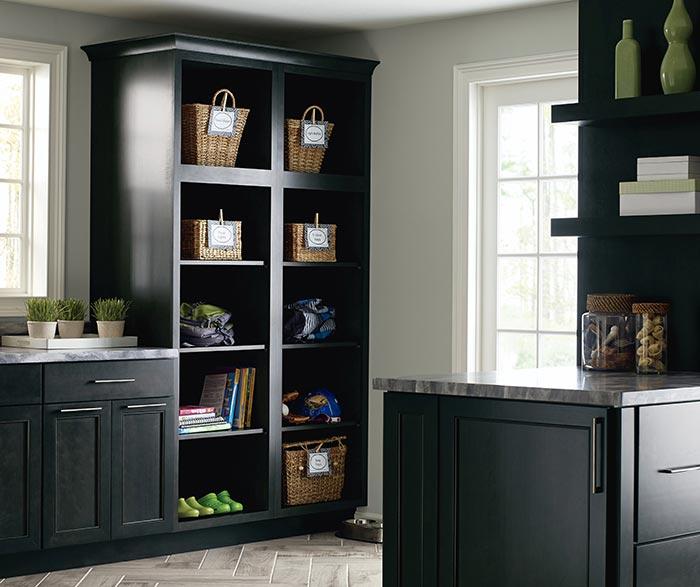 ... Leeton Dark Grey Laundry Cabinet Storage