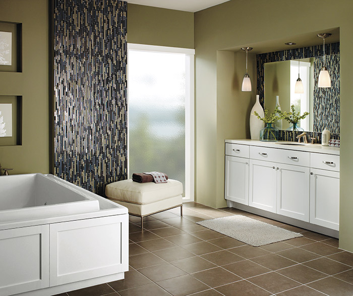 White shaker bathroom cabinets