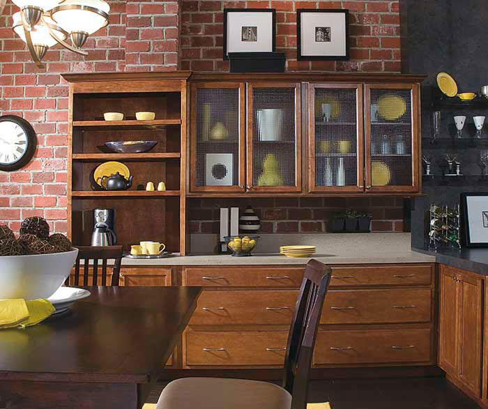 Contemporary cabinets in maple by Diamond Cabinetry