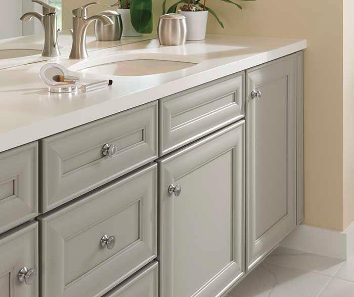 ... Grey Rothshire Cabinets In Casual Bathroom