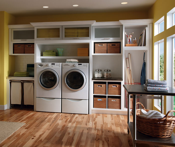 ... Laundry Room Cabinets In Painted White Maple By Diamond Cabinetry ...