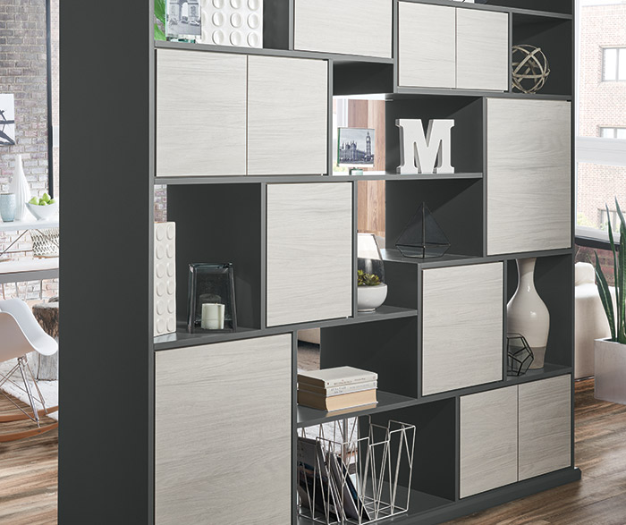 Tranter textured laminate room divider cabinets