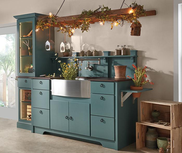Brilliant Seaside Blue Cabinet Paint On Maple Diamond Cabinetry Download Free Architecture Designs Embacsunscenecom