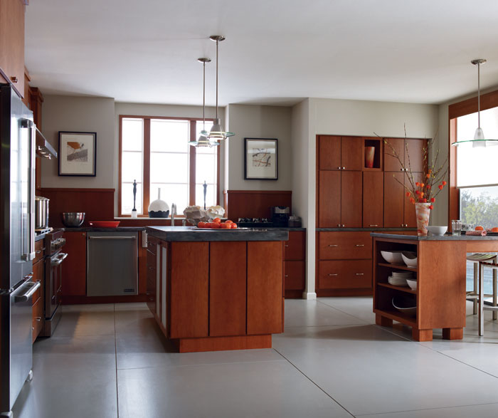 Kitchen With Cherry Cattail By Diamond Cabinetry ...