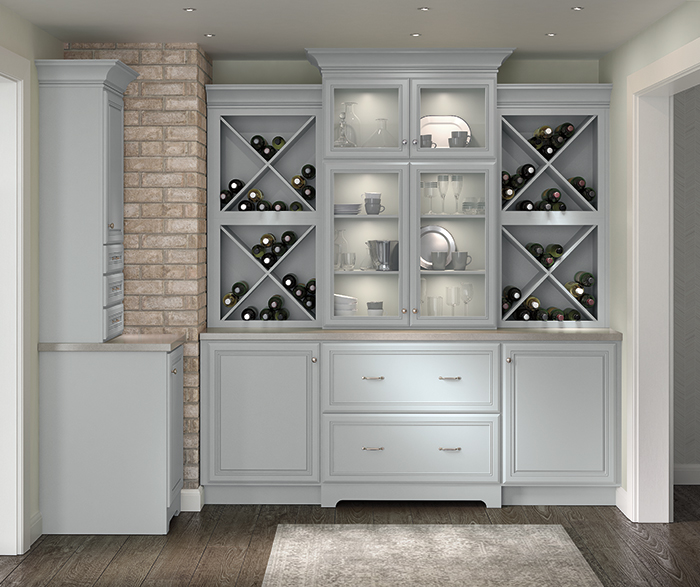 Elegant Wine Storage Cabinet Solution