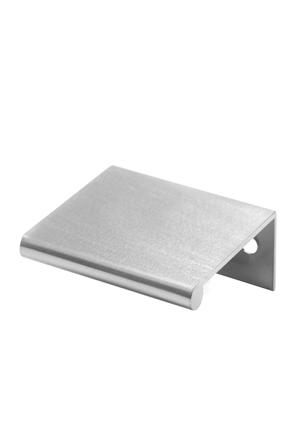 Brushed Nickel Cabinet Finger Pull   H70; 3FingerPullBrshNickel175H