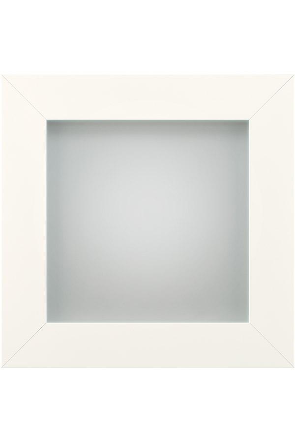 Aluminum Frame Cabinet Door In White Powder Coat Diamond