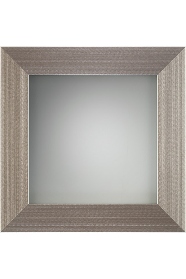 Aluminum Frame Cabinet Door In Brushed Stainless With Frost Glass