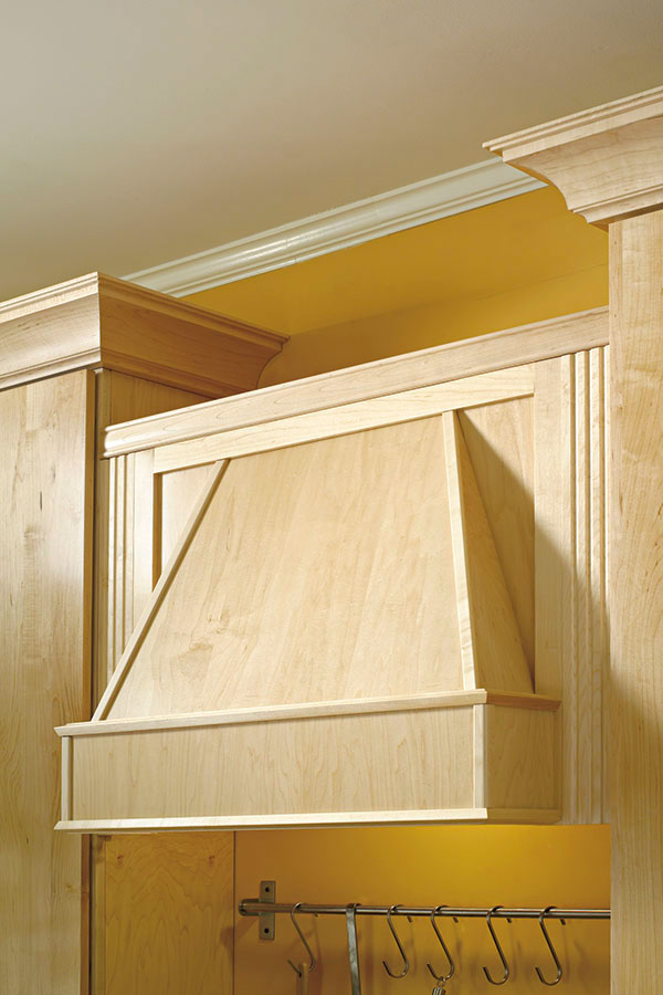 Wood Range Hoods Cabinets ~ Tapered wood hood diamond cabinetry