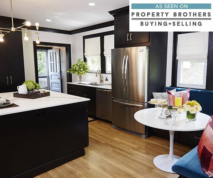 Breman black kitchen cabinets