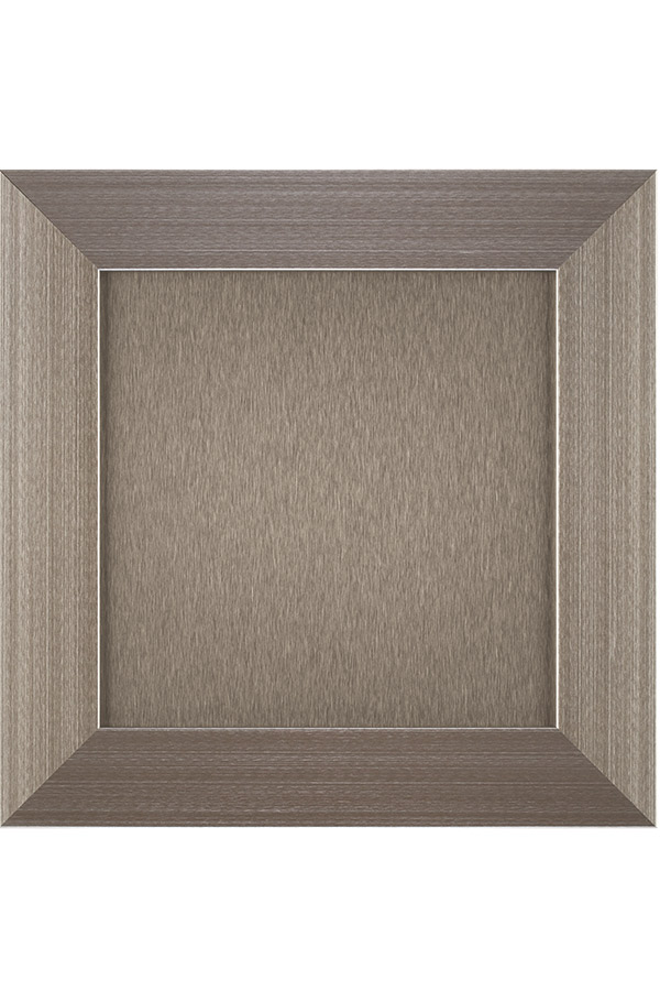 Aluminum Frame Cabinet Door with Brushed Stainless Matching Panel