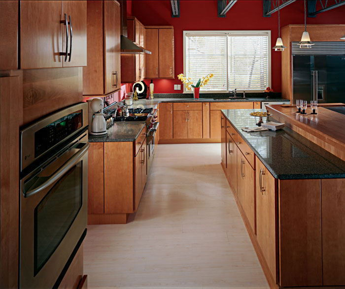 Contemporary Trystan kitchen cabinets in cherry